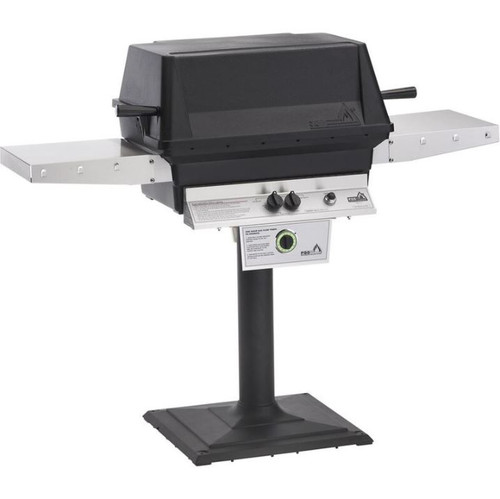 PGS T-Series T40 Commercial Cast Aluminum Natural Gas Grill With Timer On Bolt-Down Patio Post