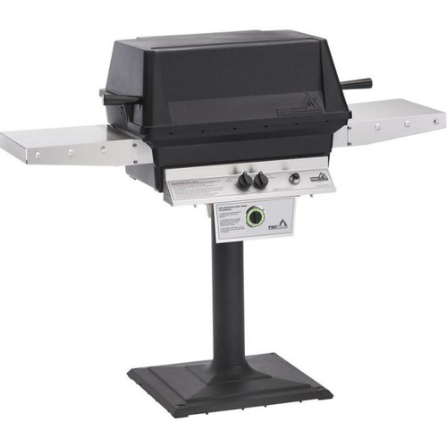 PGS T-Series T40 Commercial Cast Aluminum Propane Gas Grill With Timer On Bolt-Down Patio Post