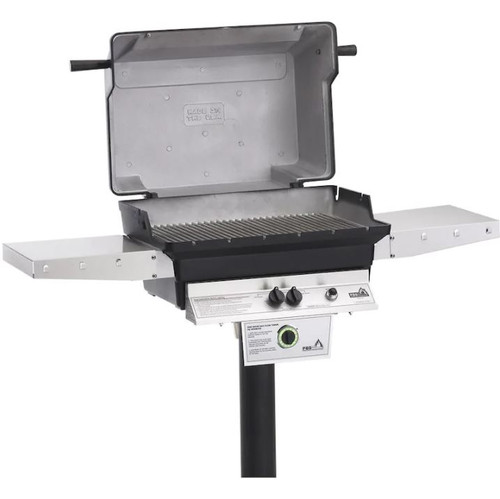 PGS T-Series T40 Commercial Cast Aluminum Natural Gas Grill With Timer On In-Ground Post