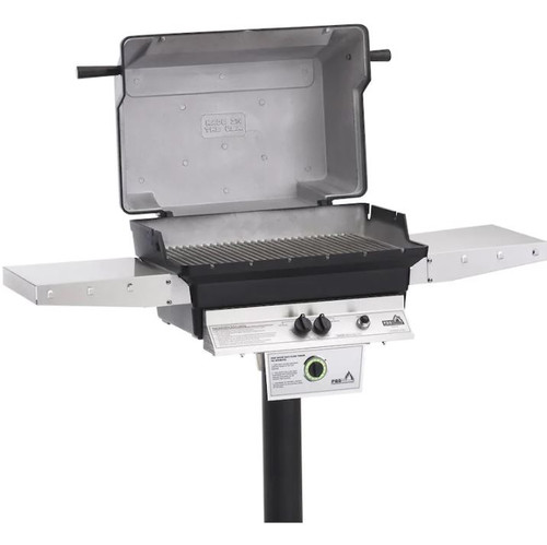 PGS T-Series T40 Commercial Cast Aluminum Propane Gas Grill With Timer On In-Ground Post