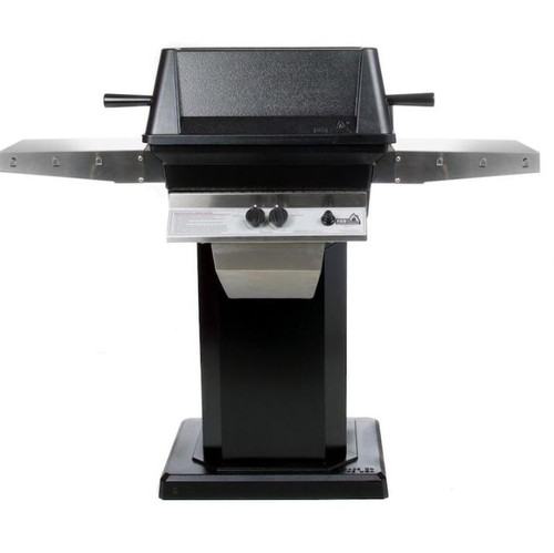 PGS A40 Cast Aluminum Natural Gas Grill On Black Patio Base