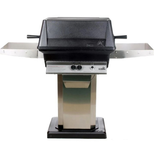 PGS A40 Cast Aluminum Propane Gas Grill On Stainless Steel Patio Base
