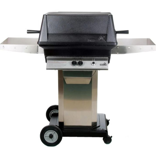 PGS A40 Cast Aluminum Propane Gas Grill On Stainless Steel Portable Pedestal Base