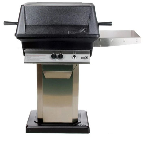PGS A30 Cast Aluminum Natural Gas Grill On Stainless Steel Patio Base