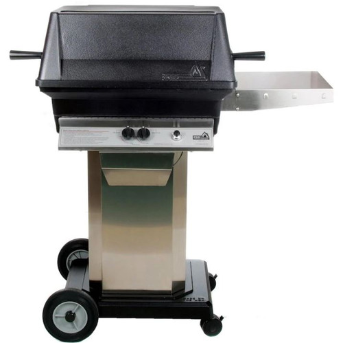 PGS A30 Cast Aluminum Propane Gas Grill On Stainless Steel Portable Pedestal Base