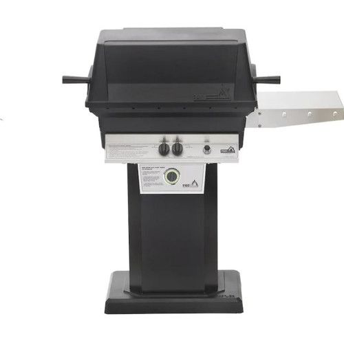 PGS T-Series T30 Commercial Cast Aluminum Propane Gas Grill With Timer On Black Patio Base