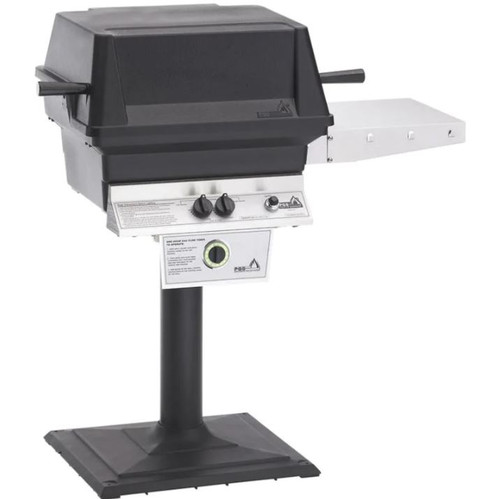 PGS T-Series T30 Commercial Cast Aluminum Natural Gas Grill With Timer On Bolt-Down Patio Post