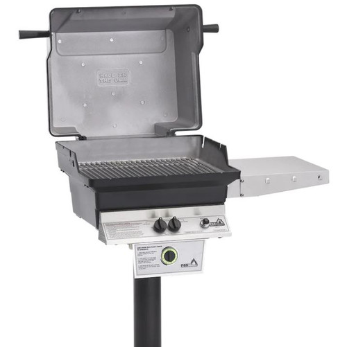 PGS T-Series T30 Commercial Cast Aluminum Propane Gas Grill With Timer On In-Ground Post