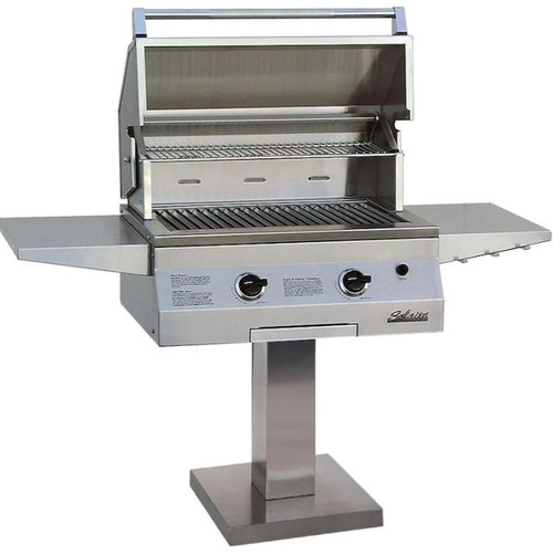 Solaire 27 Inch Basic All Convection Natural Gas Grill On Bolt Down Post - SOL-AGBQ-27G-BDP-NG