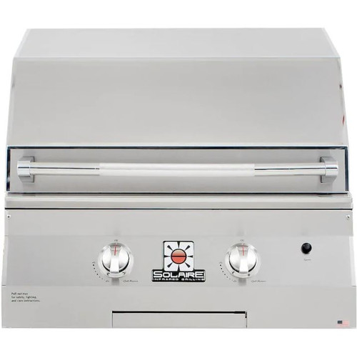 Solaire 27 Inch Basic Built-In All Convection Propane Gas Grill - SOL-AGBQ-27G-LP