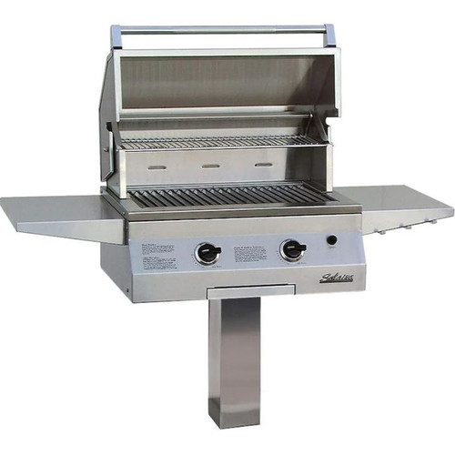 Solaire 27 Inch Deluxe All Infrared Natural Gas Grill On In-Ground Post - SOL-IRBQ-27GIRXL-IGP-NG