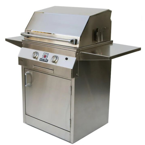 Solaire 27 Inch Deluxe All Infrared Natural Gas Grill On Standard Cart - SOL-IRBQ-27GIRXLC-NG