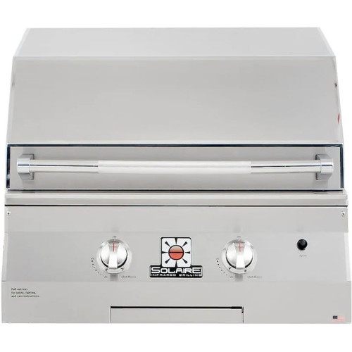 Solaire 27 Inch Basic Built-In InfraVection Natural Gas Grill With One Infrared Burner - SOL-AGBQ-27GVI-NG