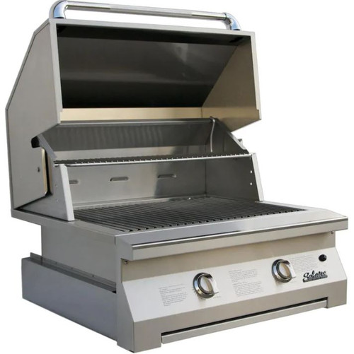 Solaire 30 Inch Built-In InfraVection Natural Gas Grill With One Infrared Burner - SOL-IRBQ-30VI-NG