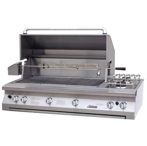 Solaire 56 Inch Built-In All Infrared Natural Gas Grill With Rotisserie & Double Side Burner - SOL-AGBQ-56IR-NG