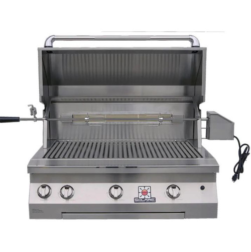Solaire 36 Inch Built-In All Infrared Natural Gas Grill With Rotisserie - SOL-AGBQ-36IR-NG
