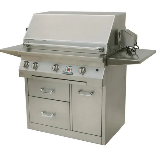 Solaire 36 Inch All Infrared Natural Gas Grill With Rotisserie On Premium Cart - SOL-AGBQ-36CXIR-NG
