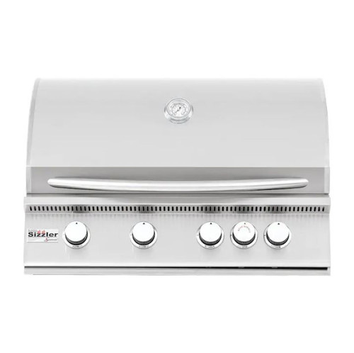 Summerset Sizzler 32-Inch 4-Burner Built-In Natural Gas Grill With Rear Infrared Burner - SIZ32-NG