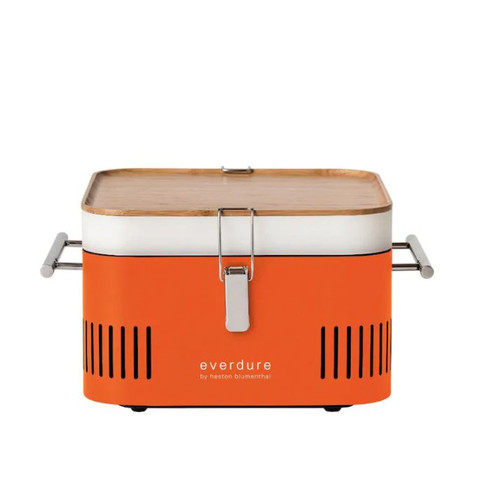 Everdure By Heston Blumenthal CUBE 17-Inch Portable Charcoal Grill - Orange - HBCUBEOUS