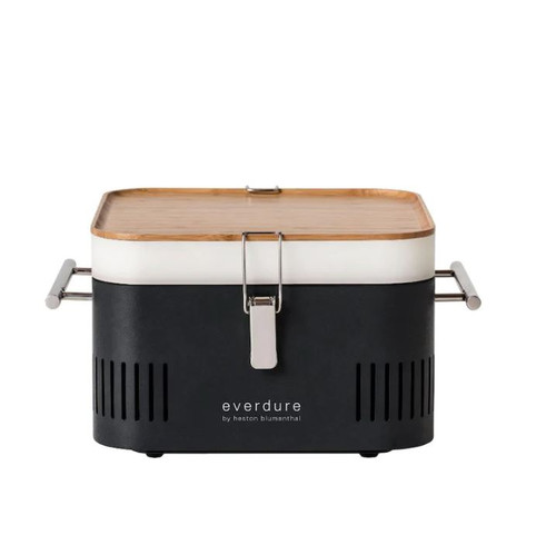 Everdure By Heston Blumenthal CUBE 17-Inch Portable Charcoal Grill - Graphite - HBCUBEGUS
