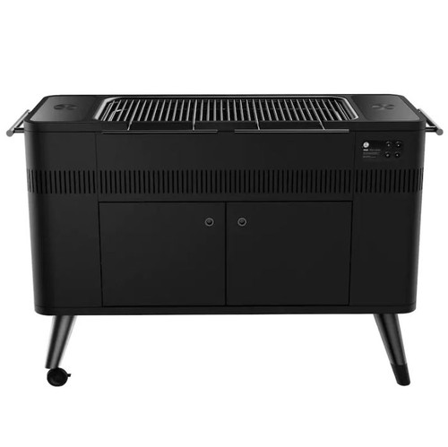 Everdure By Heston Blumenthal HUB II 54-Inch Charcoal Grill With Rotisserie & Electronic Ignition - HBCE3BUS