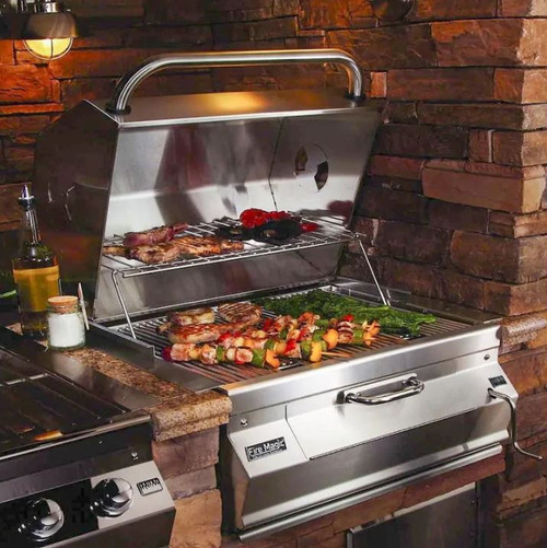 Fire Magic Legacy 24-Inch Built-In Smoker Charcoal Grill - 12-SC01C-A