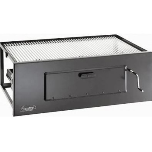 Fire Magic Lift-A-Fire Built-In Charcoal Grill - Large
