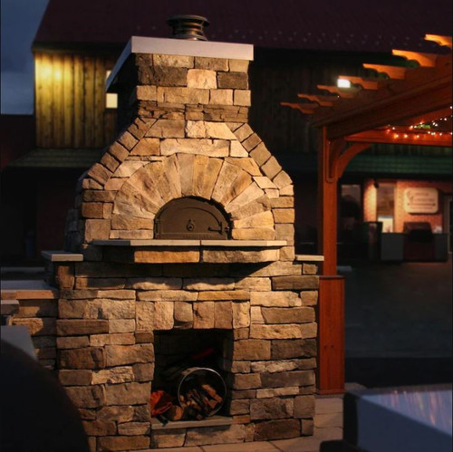 Chicago Brick Oven CBO-750 Built-In Wood Fired Residential Outdoor Pizza Oven DIY Kit - CBO-O-KIT-750