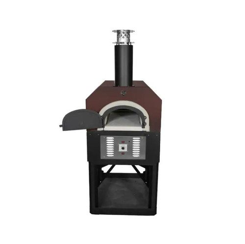 Chicago Brick Oven CBO-750 Hybrid Residential Outdoor Pizza Oven On Stand - Natural Gas - Copper - CBO-O-STD-750-HYB-NG-CV-R-3K