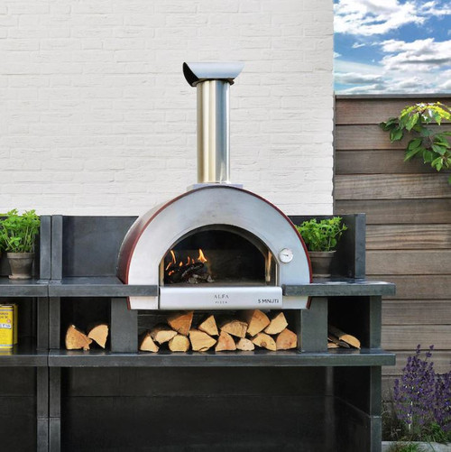 Alfa 5 Minuti 23-Inch Outdoor Countertop Wood-Fired Pizza Oven - Copper - FX5MIN-LRAM-T