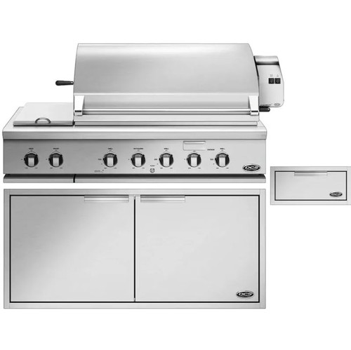 DCS 3-Piece Series 7 48-Inch Natural Gas Outdoor Kitchen Package With Integrated Side Burner