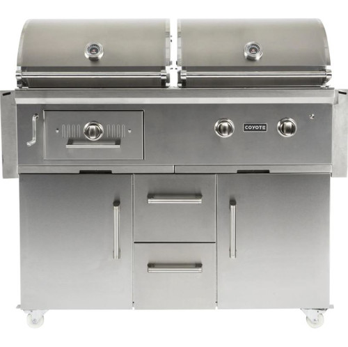 Coyote Centaur 50-Inch Propane Gas/Charcoal Dual Fuel Grill - C1HY50LP