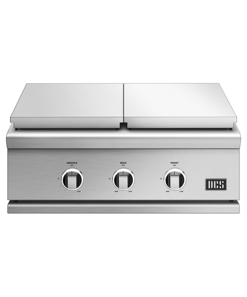 DCS Series 9 30-Inch Natural Gas Double Side Burner with Griddle - GDSBE1-302-N