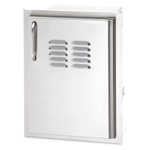 American Outdoor Grill 14-Inch Left Hinged Single Access Door With Tank Tray & Louvers - Vertical - 20-14-SSDLV