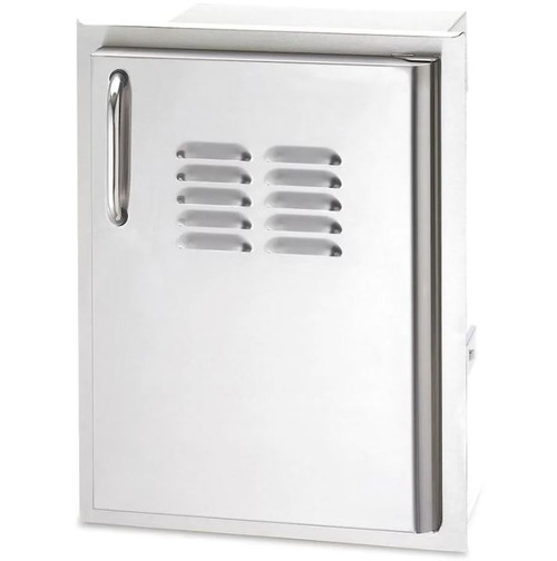 American Outdoor Grill 14 Inch Single Access Door With Tank Tray And Louvers - Vertical - Right