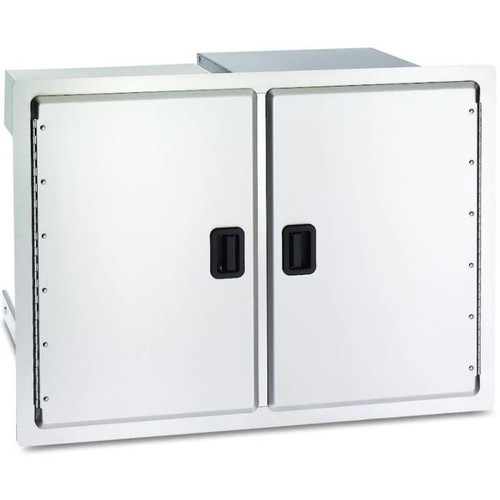 Fire Magic Legacy 30-Inch Stainless Double Access Door With Drawers And Trash Bin Storage - 23930S-12