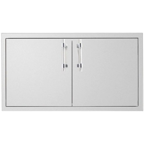 American Muscle Grill 36-Inch Stainless Steel Flush Mount Double Access Door - SSDD-36AMG
