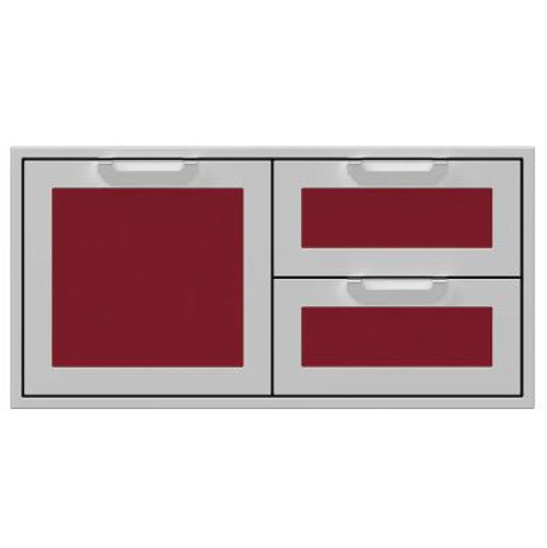 Hestan 42-Inch Double Drawer And Single Storage Door Combo - Tin Roof - AGSDR42-BG