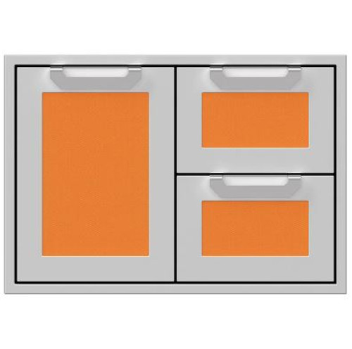 Hestan 30-Inch Double Drawer And Single Storage Door Combo - Citra - AGSDR30-OR