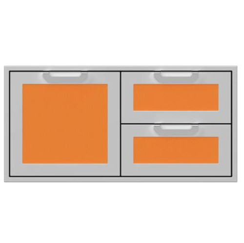 Hestan 42-Inch Double Drawer And Single Storage Door Combo - Citra - AGSDR42-OR