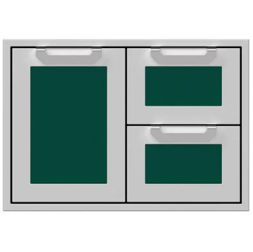 Hestan 30-Inch Double Drawer And Single Storage Door Combo - Grove - AGSDR30-GR