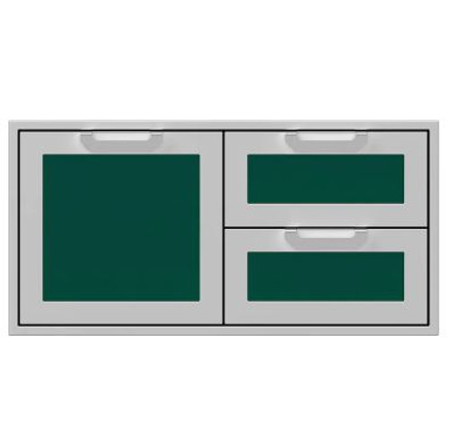Hestan 42-Inch Double Drawer And Single Storage Door Combo - Grove - AGSDR42-GR