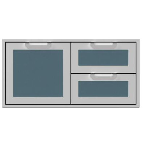 Hestan 42-Inch Double Drawer And Single Storage Door Combo - Pacific Fog - AGSDR42-GG
