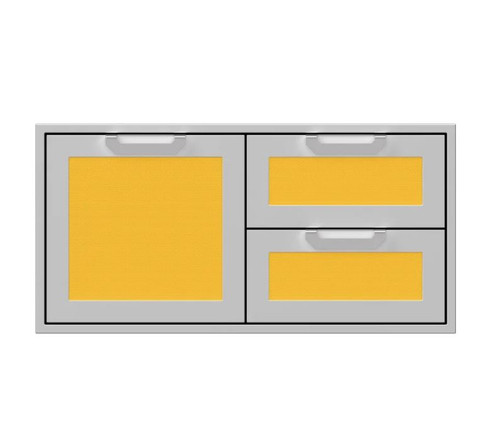 Hestan 42-Inch Double Drawer And Single Storage Door Combo - Sol - AGSDR42-YW