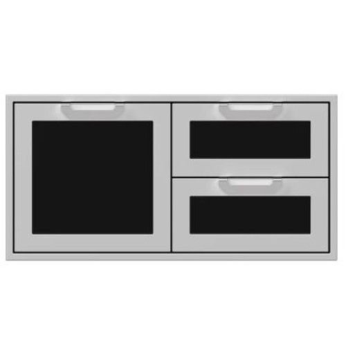 Hestan 42-Inch Double Drawer And Single Storage Door Combo - Stealth - AGSDR42-BK