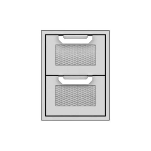 Hestan 16-Inch Double Storage Drawers - Steeletto - AGDR16-SS
