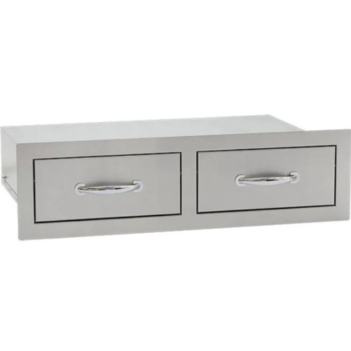 Summerset 30-Inch Stainless Steel Flush Mount Horizontal Double Access Drawer - SSDR2-32H