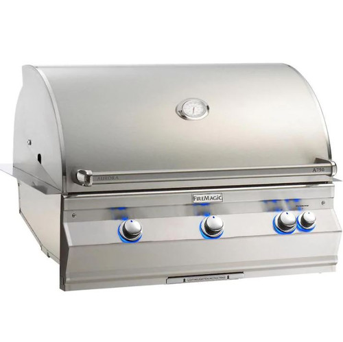 Fire Magic Aurora A790I 36-Inch Built-In Propane Gas Grill With Analog Thermometer - A790I-7EAP