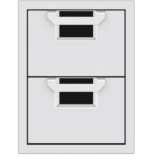 Aspire By Hestan 16-Inch Double Storage Drawers - Stealth - AEDR16-BK