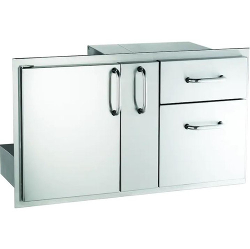 American Outdoor Grill 36-Inch Access Door With Platter Storage And Double Drawer - 18-36-SSDD